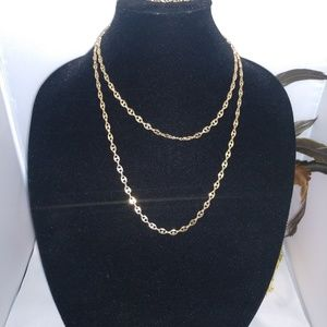 Fashion gold link necklace